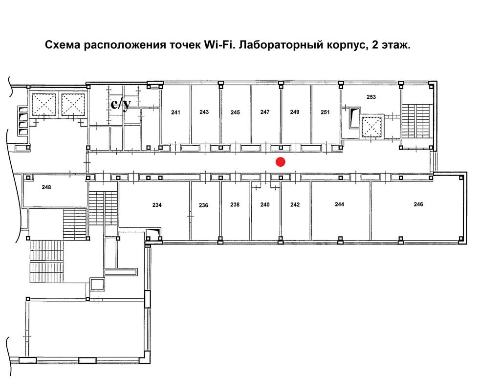 Лабораторный корпус, 2 этаж