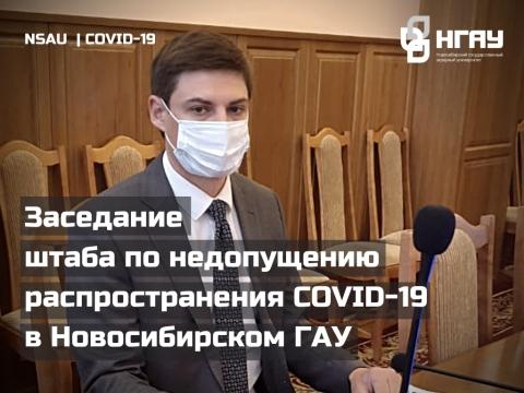 Заседание штаба по недопущению распространения COVID-19 в Новосибирском ГАУ